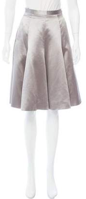 Luisa Beccaria Pleated Satin Skirt