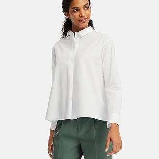 Uniqlo Women's Extra Fine Cotton A-line Long-sleeve Shirt