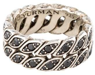 David Yurman Black Diamond Curb Chain Ring