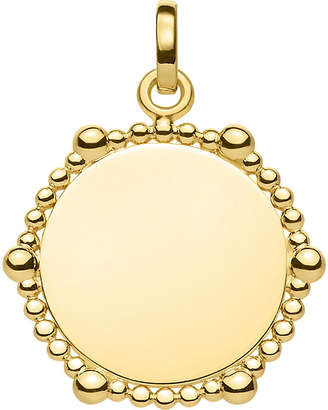 Thomas Sabo Love Bridge Coin Dots 18ct yellow gold-plated pendant