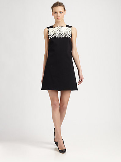 Tibi Dover Beaded Cutout-Back Dress