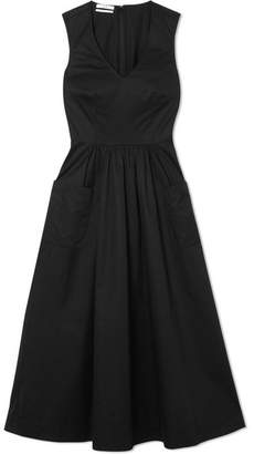 Co Cotton Midi Dress - Black