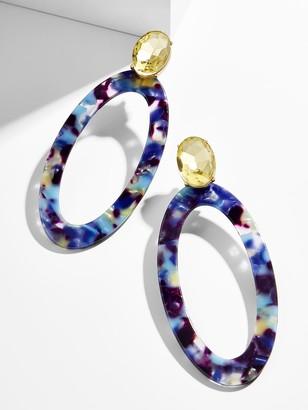 BaubleBar Taliana Resin Hoop Earrings