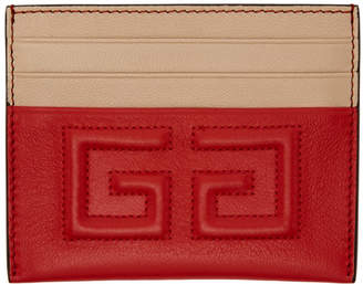 Givenchy Red Emblem 4G Card Holder