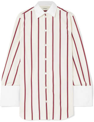 Totême Sassa Oversized Striped Cotton-poplin Shirt - White