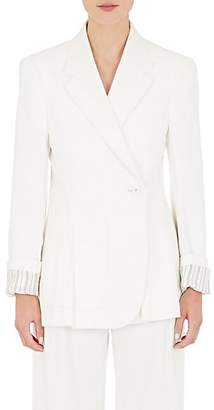 Maison Margiela WOMEN'S DENIM ONE-BUTTON JACKET - 101-OFFWHT SIZE 36