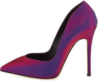 Giuseppe Zanotti Iridescent Satin High-Heel Pumps