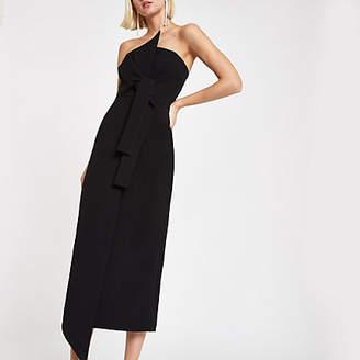 River Island Black bandeau bodycon maxi dress