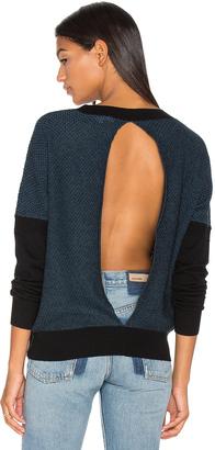 LA Made Oliver Split Back Sweater $107 thestylecure.com