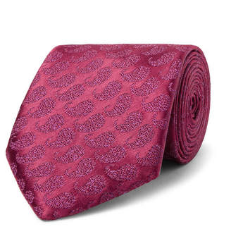 Charvet 7.5cm Paisley Silk And Linen-Blend Jacquard Tie