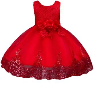 AllSaints ADHS Kids Baby Girl Summer Casual Vintage Cute Lovely Dresses(,3-4Y)