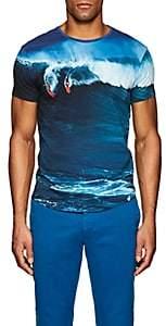 Orlebar Brown Men's Surf-Print Cotton T-Shirt-Blue