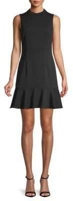 Saks Fifth Avenue BLACK Classic Crepe Fit-&-Flare Dress