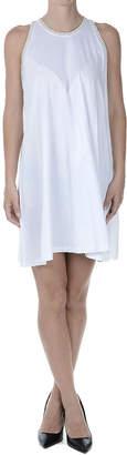 Balenciaga (バレンシアガ) - BALENCIAGA バックジップ ノースリーブドレス ホワイト m