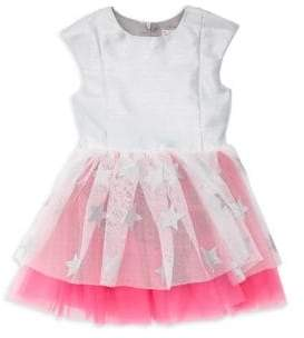 Halabaloo Little Girl's & Girl's Star Tulle Dress