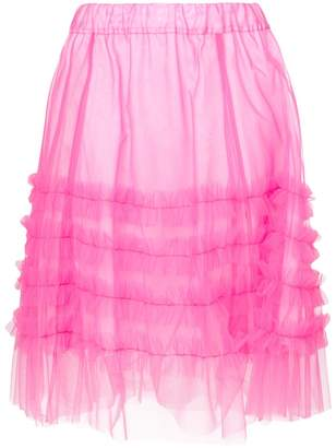 P.A.R.O.S.H. frilled tulle skirt