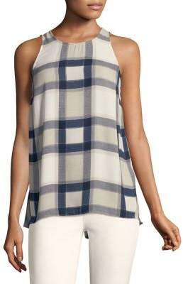Jones New York Sleeveless Windowpane Plaid Tank