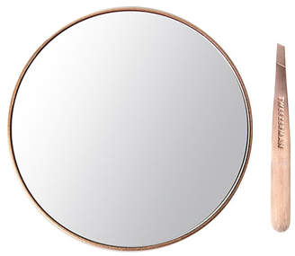 Tweezerman Rose Gold Mini Slant Tweezer & Mirror Set