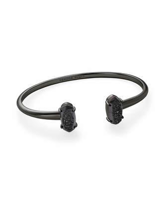 Kendra Scott Edie Gunmetal Cuff Bracelet in Black Drusy
