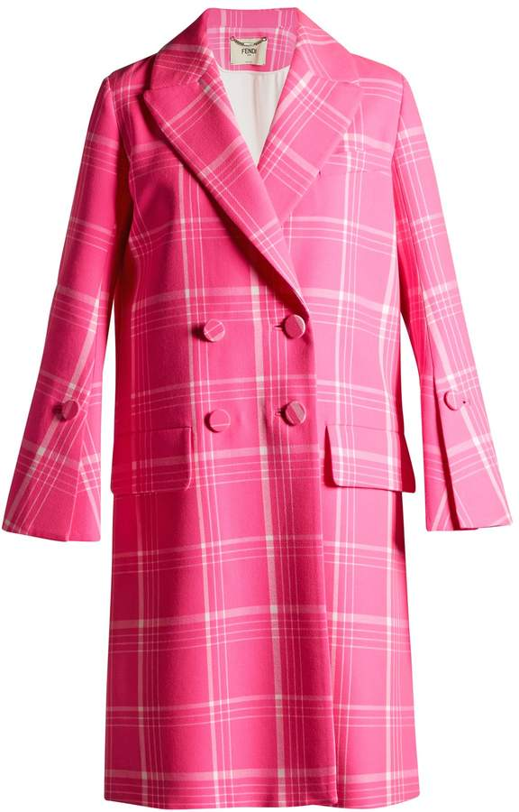 FENDI Double-breasted checked coat