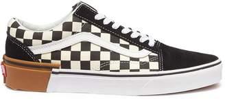 Vans 'Gum Block Old Skool' colourblock checkerboard sneakers