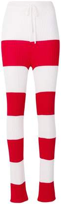 Marques Almeida Marques'almeida striped ribbed-knit leggings