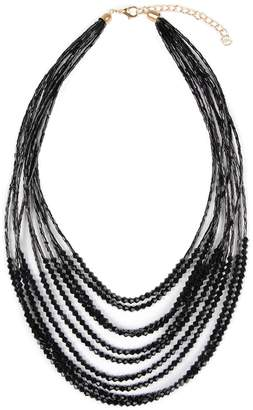 Riah Fashion Multiple-Strand Glass-Beads Statement-Necklace