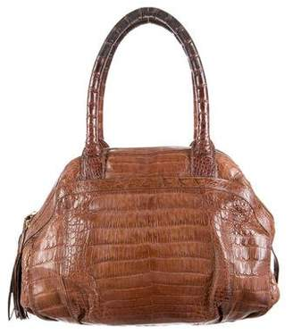 Nancy Gonzalez Crocodile Bowler Bag