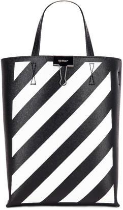 Off-White Off White Diagonal Tote Bag in Black & White | FWRD