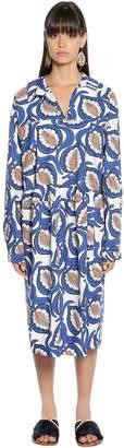Marni Printed Poplin Shirt Dress