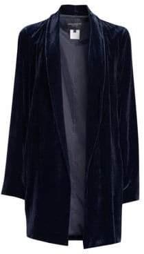 Lafayette 148 New York Cecily Velvet Open-Front Jacket