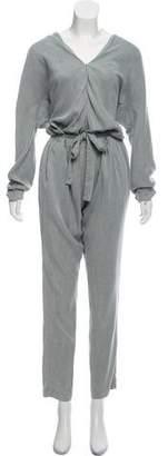 Closed Long Sleeve Straight-Leg Jumpsuit w/ Tags