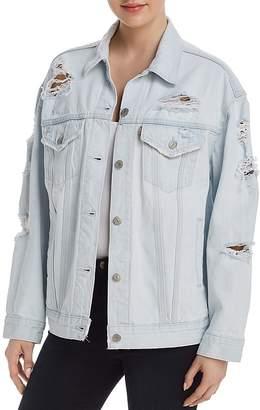 Levi's Baggy Trucker Denim Jacket in Thin Ice - 100% Exclusive