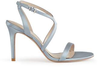 Reiss MEDEA SATIN CROSS-FRONT SANDALS Crystal Blue
