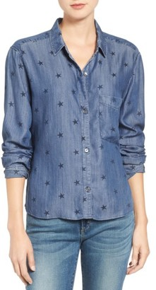 Women's Rails Dana Star Print Chambray Shirt $148 thestylecure.com
