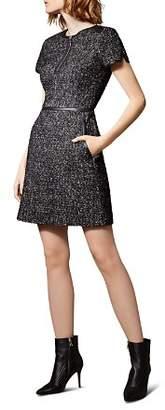 Karen Millen Tweed Zip-Front Dress