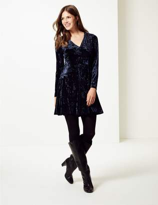 Marks and Spencer Velvet Long Sleeve Swing Dress