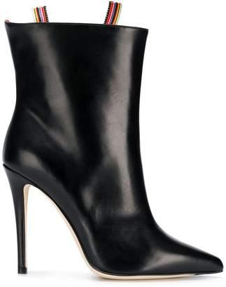 Marco De Vincenzo rainbow zip ankle boots