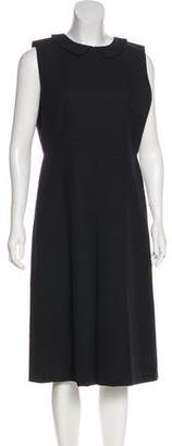 Rochas Virgin Wool Midi Dress