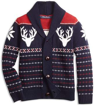 Brooks Brothers Boys' Fair Isle Cardigan - Big Kid