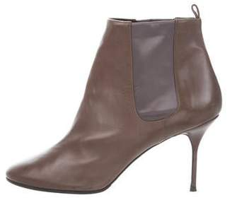 Pierre Hardy Leather Round-Toe Ankle Boots
