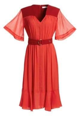 Chloé Silk Mousseline Dress