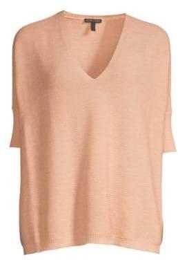 Eileen Fisher Short-Sleeve Merino Wool Sweater