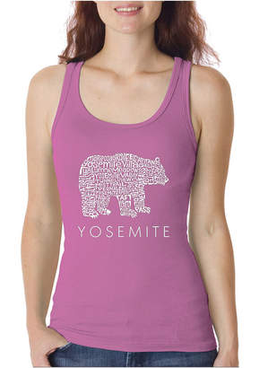LOS ANGELES POP ART Los Angeles Pop Art Women's Word Art Tank Top - Yosemite Bear