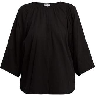 Apiece Apart Nova Cotton Gauze Top - Womens - Black
