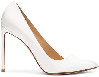 Francesco Russo Pointed Toe Heels in White | FWRD