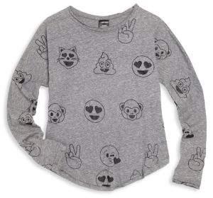 Terez Girl's Emoticon Print T-Shirt