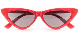 b22c270ba05 at Missy Empire · Missy Empire Missyempire Gigi Red Cat Eye Sunglasses