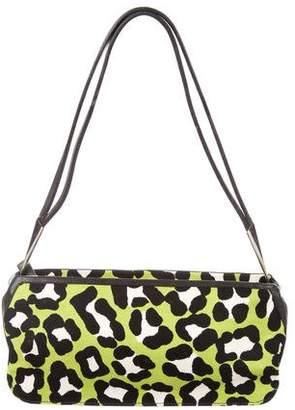 Bottega Veneta Leather-Trimmed Leopard Print Bag