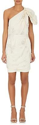Lanvin WOMEN'S EMBELLISHED LINEN-COTTON COCKTAIL DRESS